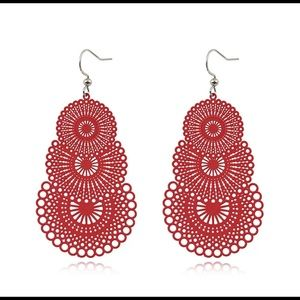 Boho Ethnic Big Dangle Drop Earrings laser cut